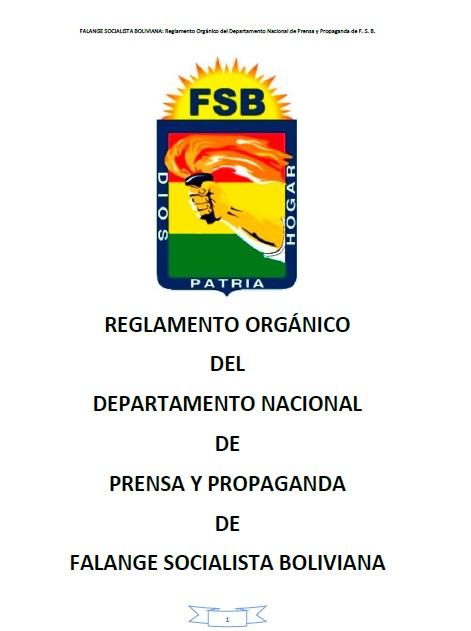 Reglamento Orgánico del Departamento Nacional de Prensa y Propaganda FSB