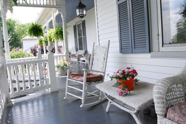 Time to sit a spell on the Claiborne House 130' porch