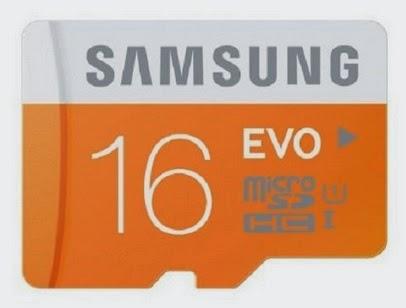 Samsung EVO 16 GB class 10