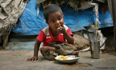 hungry indian children