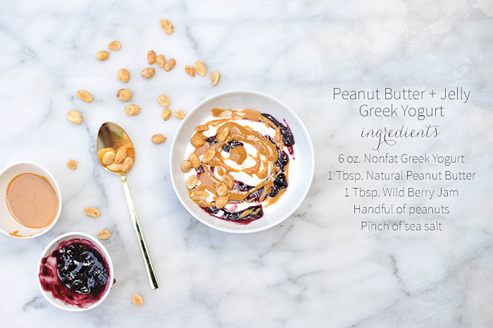Peanut Butter & Jelly Greek Yogurt Breakfast Bowl pb&j