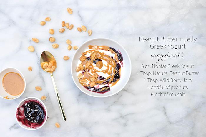Peanut Butter & Jelly Greek Yogurt Breakfast Bowl pb&j