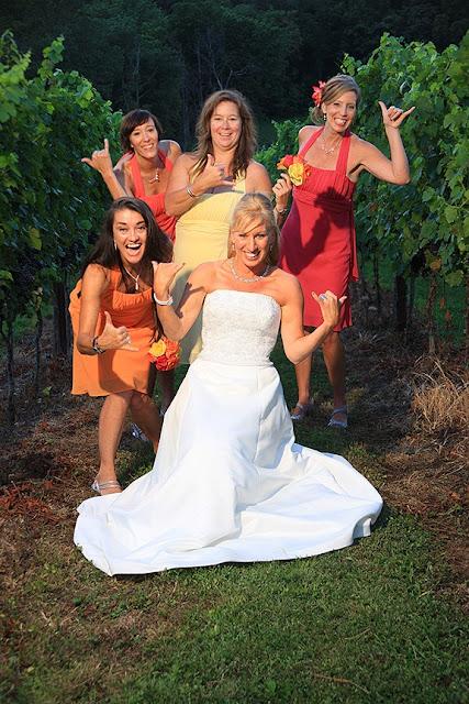 Bride and Bridesmaids Doukenie Vineyard| Whysall Photography