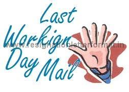 Resignation Letter Format | Resignation Letter Sample: Last ...