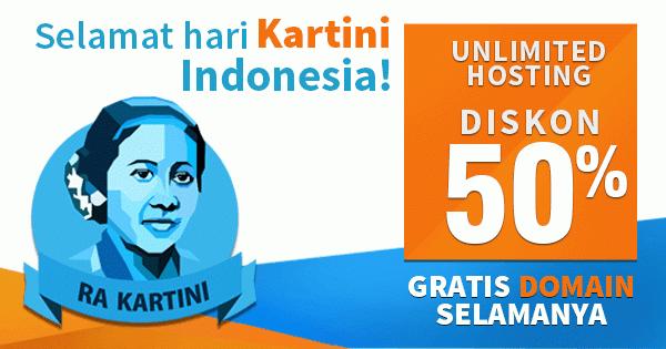 Hosting Unlimited Indonesia Diskon 50%