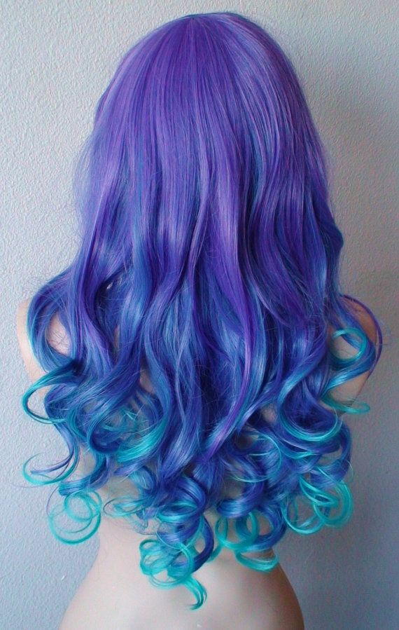 purple and blue hair tips wwwpixsharkcom images