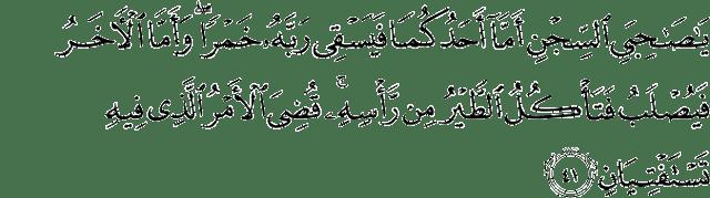 Surah Yusuf Ayat 41