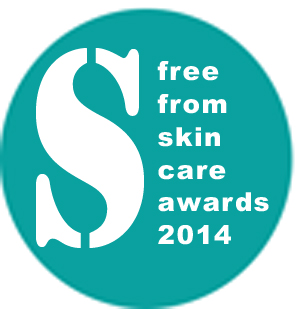 free from skincare awards 2014 logo