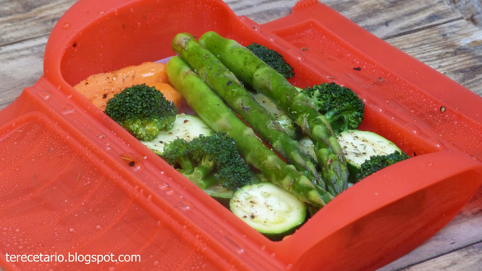 Terecetario verduras al vapor de l ku - Asador al vapor lekue ...