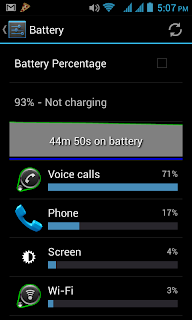 Cherry Mobile Sonic 2.0 Battery Stats - Call