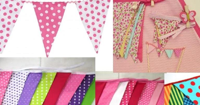 Cositas m as banderines en tela for Cuarto adornado para cumpleanos