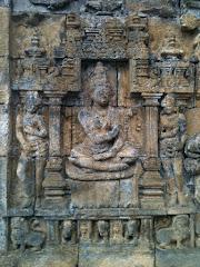 Detalhe da estupa de Borobudur