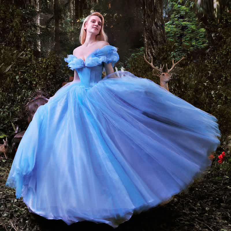 Cinderella Inspired Blue Bridal Ball Gown Wedding Dress | wedding ...