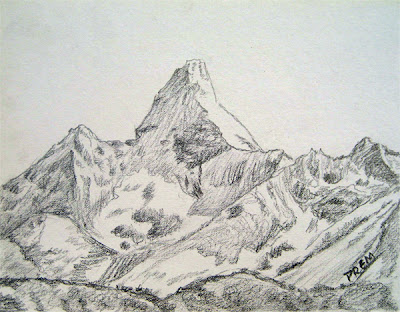 Easy sketch of Mt. Ama Dablam