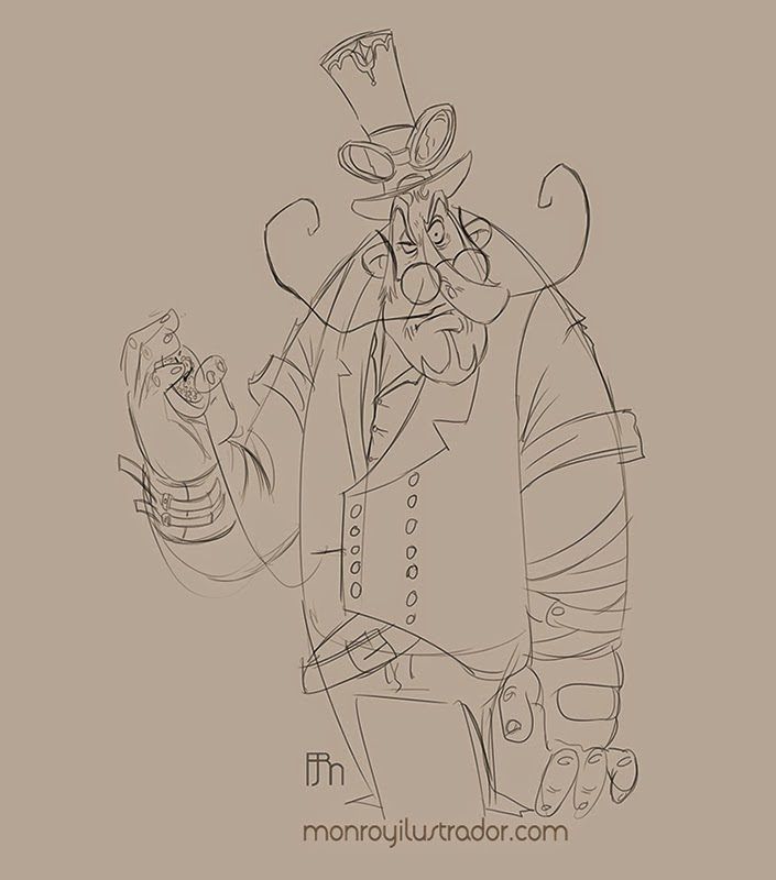 Cartoon STEAMPUNK (Step 1)