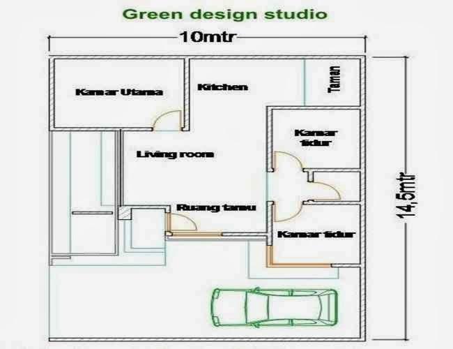 gambar rumah sederhana modern denah rumah sederhana dengan