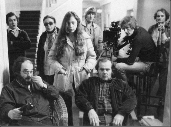 Stanley Kubrick, Jack Nicholson & Vivian Kubrick (standing)