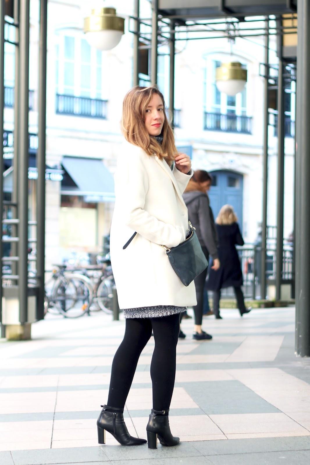 Manteau blanc laine hiver