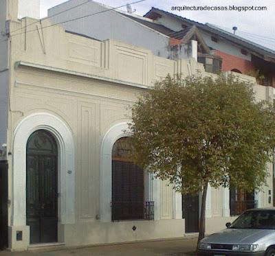 Casa entre medianeras estilo Art Decó restaurada