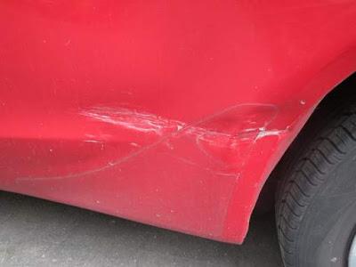 scratch, dent, car