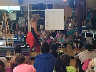 Jenna Bostic teaches choreography to Zumba Students