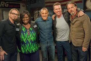 ANARCHY AFTERWORD -- Pictured: (L-R) Kurt Sutter, Retta, Theo Rossi, Chris Franjola (host), Tommy Flanagan. CR: Prashant Gupta/FX