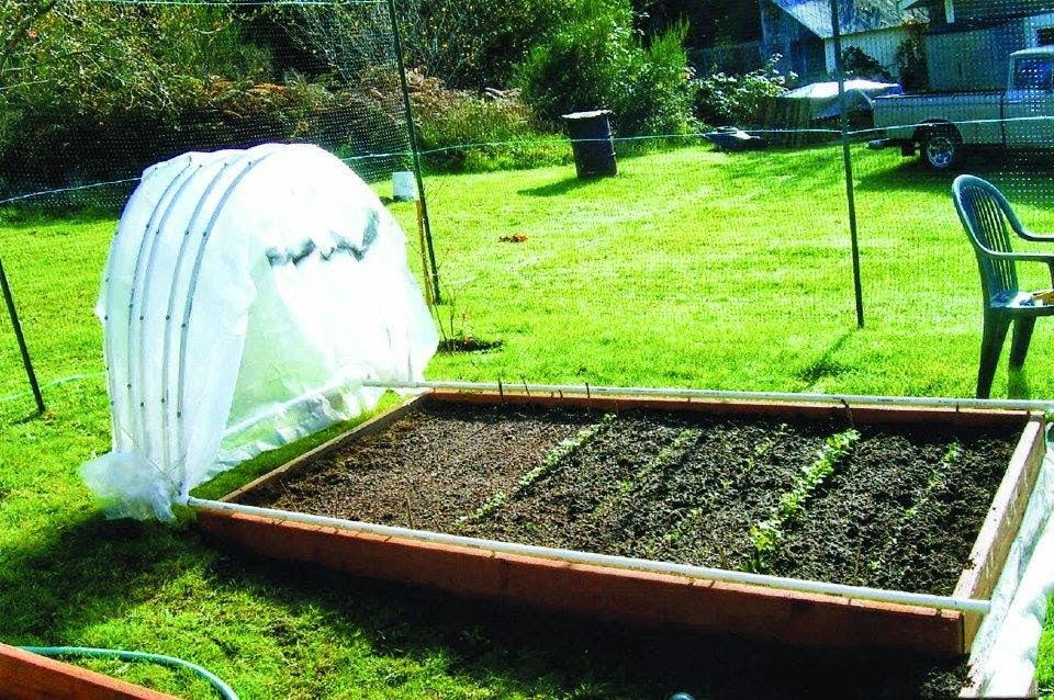 How to make a hoop house that glides open closed for Diy hoop greenhouse