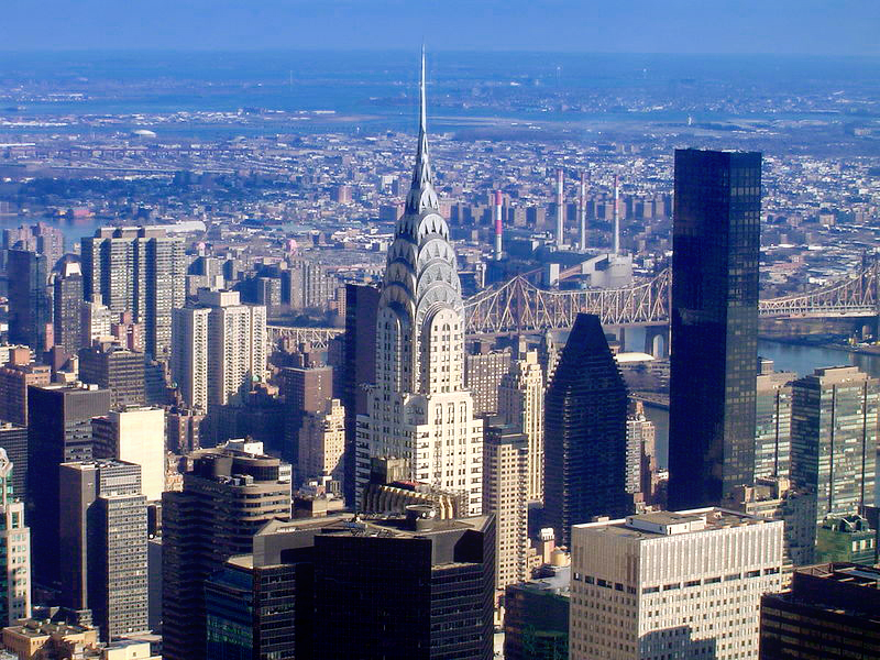 chrysler building from empire state building nyc. Cars Review. Best American Auto & Cars Review