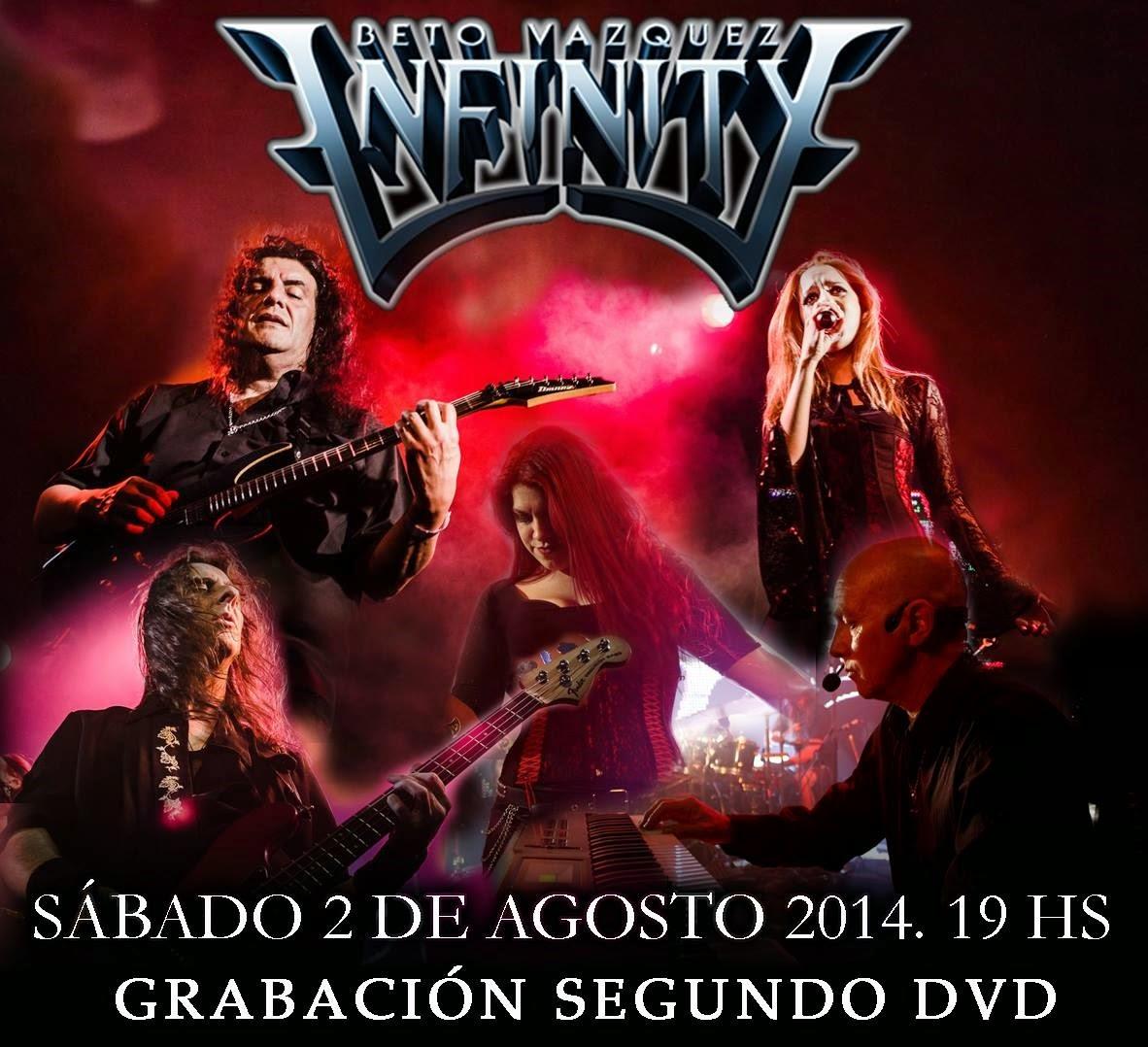 elvuelodelaesfinge.com.ar -2 de agosto 2014 Beto Vazquez Infinity graba nuevo dvd