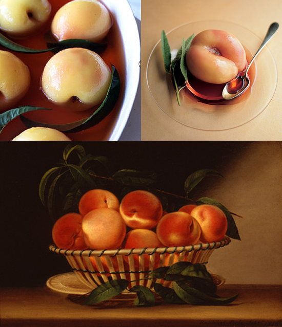 Recipe 1: White Peaches Poached in Sauternes - Saveur (Photo ...