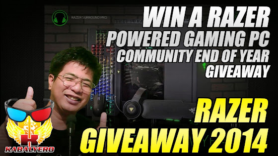 Razer Giveaway 2014, Win A Razer Powered Gaming PC, Community End Of Year Giveaway