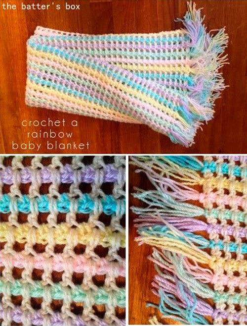 Punto muy original a crochet con paso a paso para hacer una bufanda