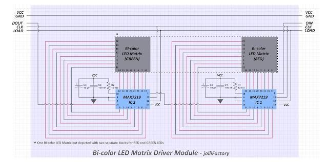 Bi Colour Led Circuit Diagram | Jollifactory Bi Color Led Matrix Driver Module Diy Kit