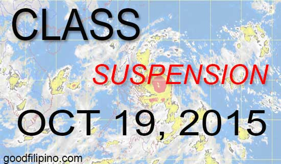 October 19, Monday Class Suspension Updates