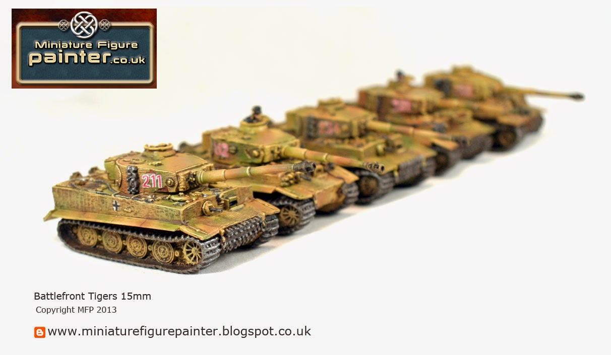 15mm Battlefront Tigers Painted by Miniature Figure Painter