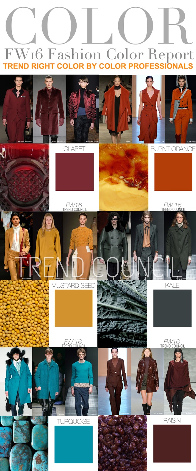 Fashion vignette for Fall clothing colors 2016