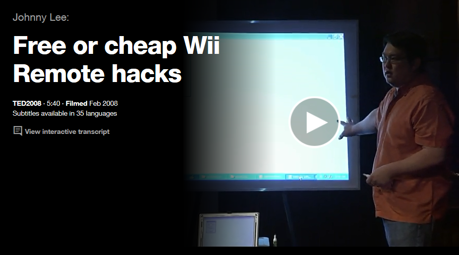 http://www.ted.com/talks/johnny_lee_demos_wii_remote_hacks#t-80454