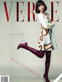 Kangana Ranaut in maroon boots and white Dress for the Verve magazine October 2015