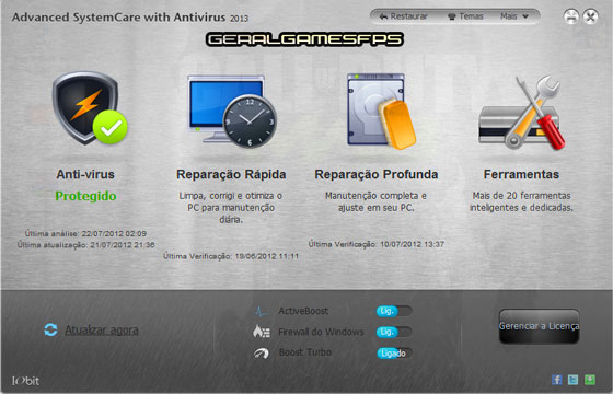 Advanced SystemCare With Antivirus 2013 + SERIAL KEYS [HD] - Geral ...