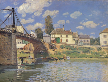 Sisley: Bridge at Villeneuve la Garenne.