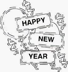 5 Beauty New Year Fireworks Coloring Pages