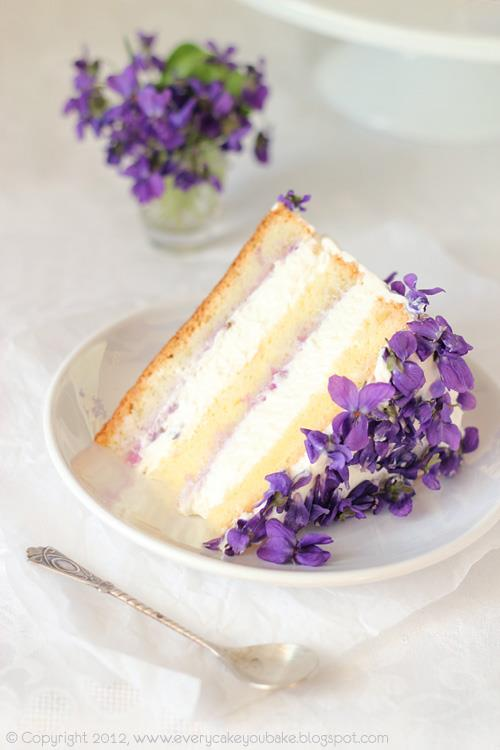 Torta alle violette
