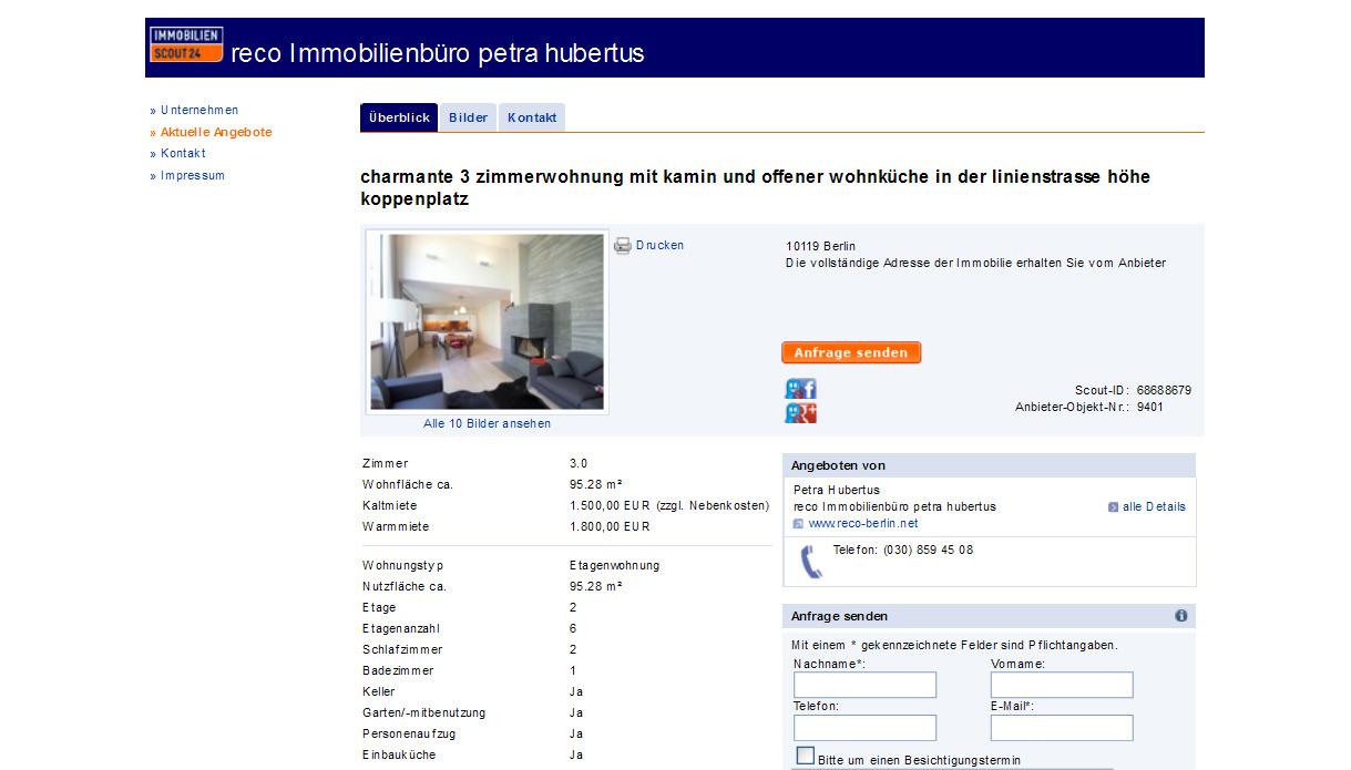 jorgfisher 3 zimmerwohnung mit kamin und offener. Black Bedroom Furniture Sets. Home Design Ideas