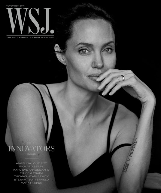 Actress @ Angelina Jolie by Peter Lindbergh for WSJ Magazine, November 2015