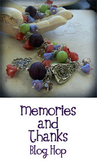 The badge for Lori Anderson's Memories and Thanks Blog Hop