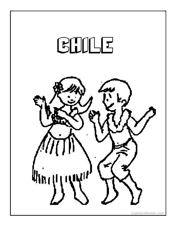 Fiestas patrias de Chile, dibujos colorear | conozcamos chile
