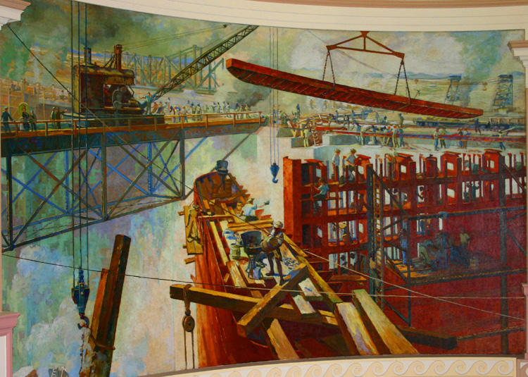 Panama tourism and travel panama canal administration for Construction mural