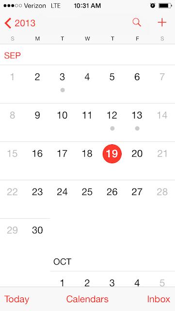 apple iOS calendar