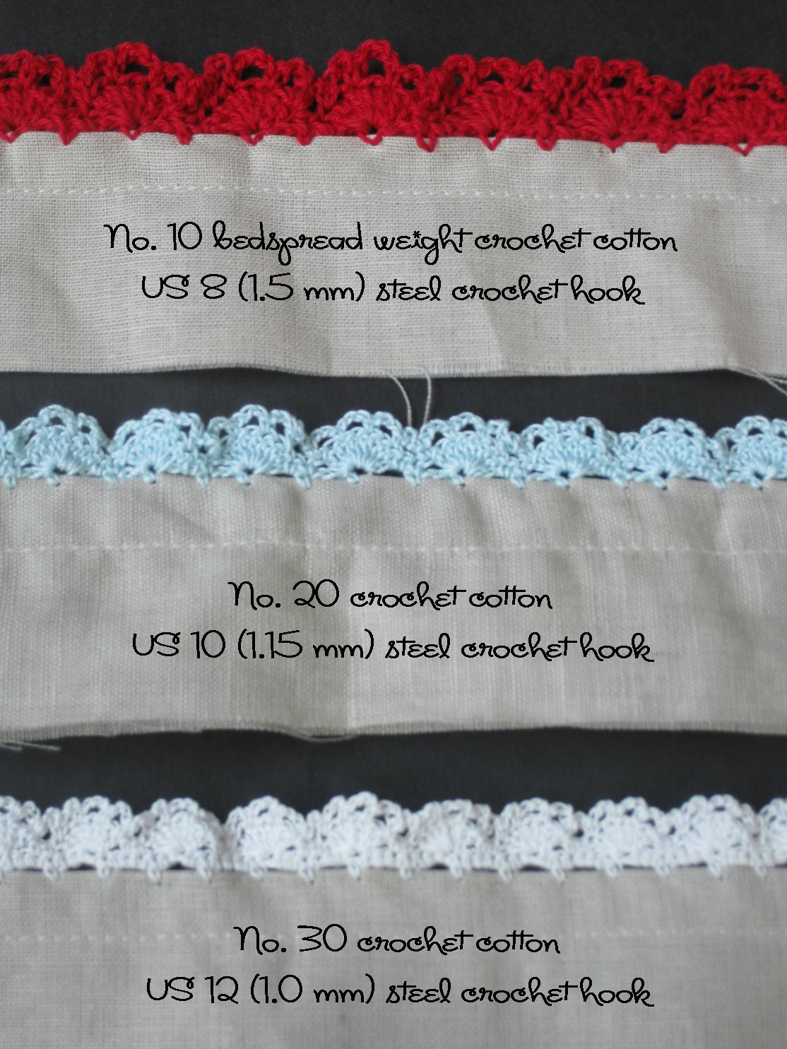 Crochet Edging : alipyper: Eyelet Lace Crochet Edging Pattern