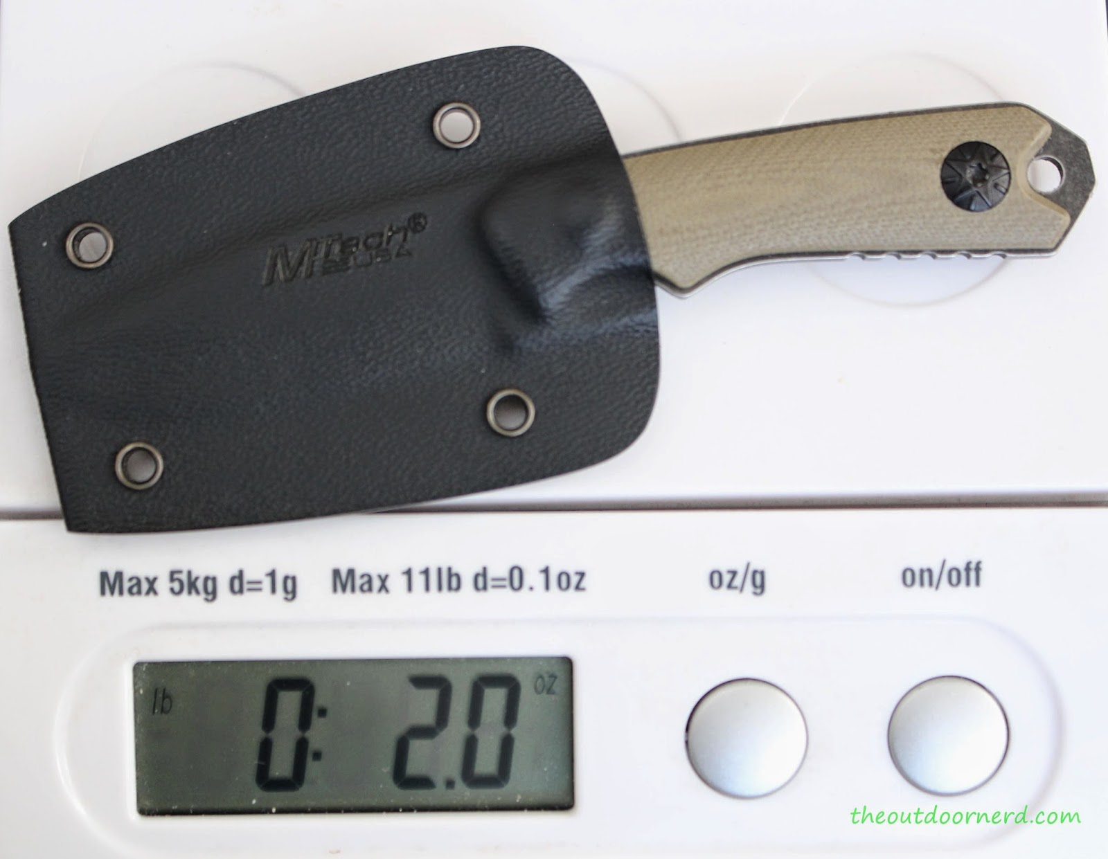 MTECH MT-20-30 Fixed Blade Knife: On Scale